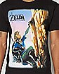Link Mountain Climbing Breath of the Wild T Shirt - The Legend of Zelda
