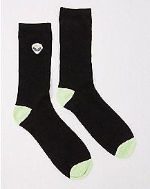 Embroidered Alien Crew Socks