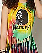 Rasta Tie Dye Fringe Bob Marley Tank Top