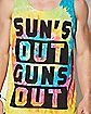 Sun's Out Guns Out Tie Dye Tank Top