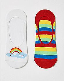 Rainbow No Show Sock 2 Pack