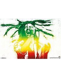 Rasta Electric Bob Marley Poster