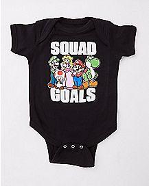 Squad Goals Bodysuit - Super Mario
