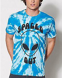 Tie Dye Spaced Out Alien T Shirt