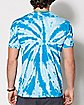 Tie Dye Spaced Out Alien T Shirt