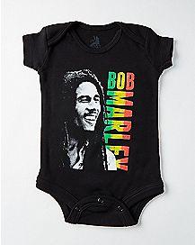 Rasta Bob Marley Baby Bodysuit
