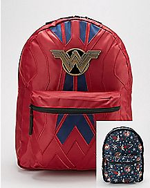 Reversible Wonder Woman Backpack - DC Comics