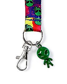 Galaxy Alien Lanyard