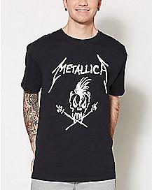 Scary Bones Metallica T Shirt