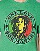 Green One Love Bob Marley T Shirt