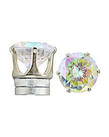 CZ Magnetic Fake Stud Earrings