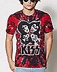 Faces Tie Dye Kiss T Shirt