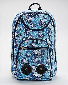 Blue Tie Dye Bluetooth Audio Backpack