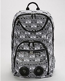 Black and White Boombox Audio Backpack
