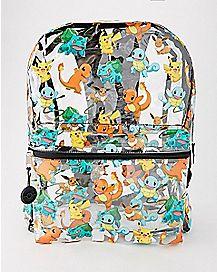 Clear Starters Pokemon Backpack