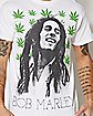 Pot Leaf Bob Marley T Shirt
