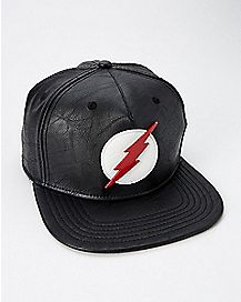 Black The Flash Snapback Hat - DC Comics