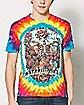 Tie Dye Skeleton Grateful Dead T Shirt