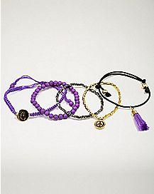 Purple Chakra Bracelets - 5 Pack