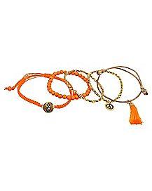 Orange Chakra Bracelets - 5 Pack