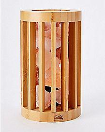 Bamboo Cage Himalayan Salt Lamp 3-5 lbs.