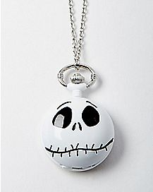 Jack Skellington Pocket Watch Pendant Necklace - The Nightmare Before Christmas