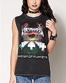 Master of Puppets Metallica Muscle Tank Top
