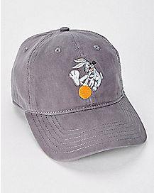 Grey Bugs Bunny Dad Hat - Looney Tunes 3cc0baa4bd72