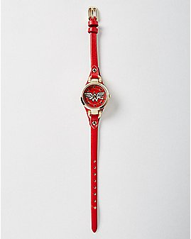 Skinny Strap Wonder Woman Watch