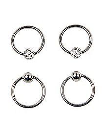 Multi-Pack Captive Rings 2 Pair - 16 Gauge