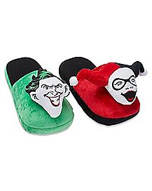 Harley Quinn and The Joker Slippers - DC Comics