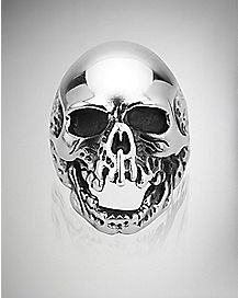 Open Mouth Skull Ring - Size 10