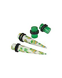 Multi-Pack Pineapple Tapers and Plugs Set - 2 Pair