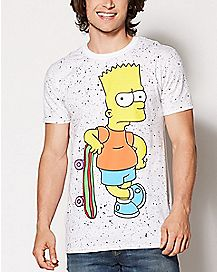 Splatter Bart Simpson T Shirt