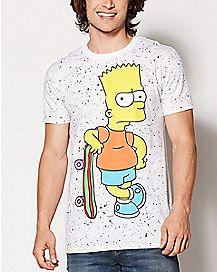 Splatter Bart Simpson T Shirt