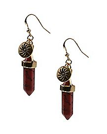 Red Chakra Dangle Earrings