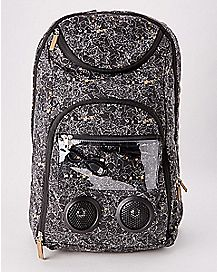 Black and White Stars Bluetooth Audio Backpack