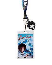 No Mistakes Just Happy Accidents Bob Ross Lanyard