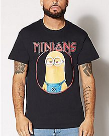 Rock N Roll Minions T Shirt - Despicable Me