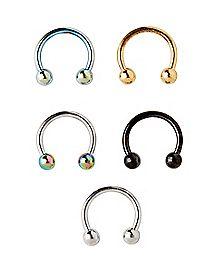 Multi-Pack Horseshoe Rings 5 Pack - 16 Gauge
