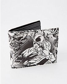 Black and White Flash Bifold Wallet