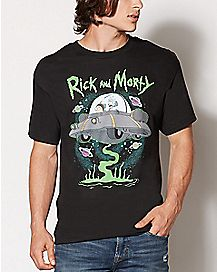 UFO Rick and Morty T Shirt