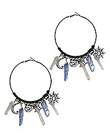 Sun and Moon Hoop Earrings
