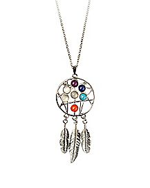 Chakra Dreamcatcher Necklace