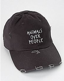 Distressed Animals Over People Dad Hat