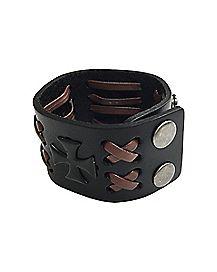 Laced Cross Bracelet