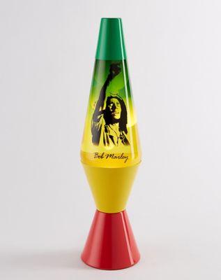 Rasta Bob Marley Lava Lamp   14.5 Inch