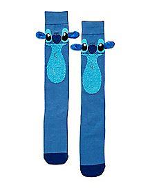 3D Stitch Knee High Socks - Disney