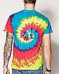 Trippy Cat Tie Dye T Shirt