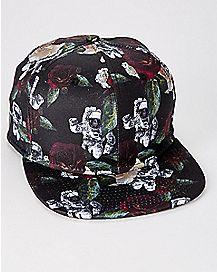 Rose Astronaut Snapback Hat